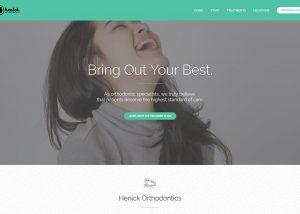 Henick Orthodontics website Featured Image