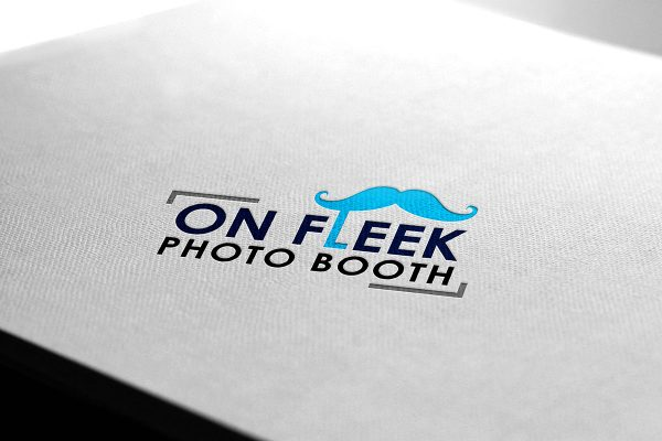 On Fleek Photo Booth logo mockup