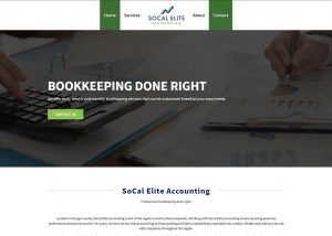 SoCal Elite Accounting web design featured image