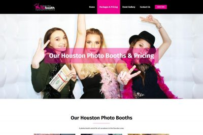 Perfect Shot Photo Booth in Houston website image