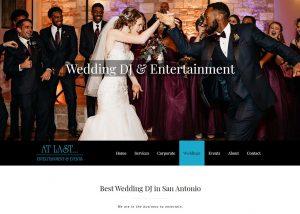 At Last Entertainment & Events featured image for our web design portfolio