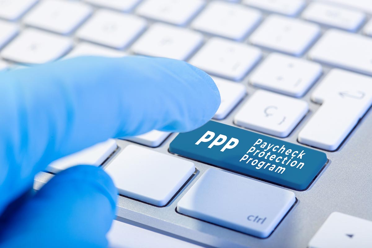 Featured image of a keyboard pressing the button for PPP loan applications extension